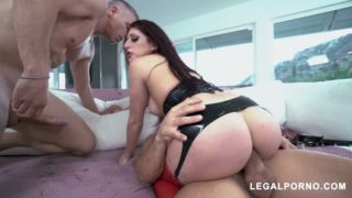 LegalPorno – Nikki Knightly Rough first time DP AB023