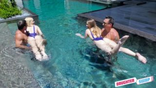 DaughterSwap – Steamy Daughter Pool Sex